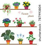 vector set with plants | Shutterstock .eps vector #787993804