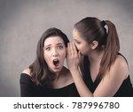 two fancy dressed actress girls ... | Shutterstock . vector #787996780