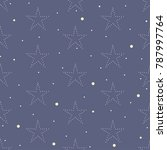seamless pattern with stars.... | Shutterstock .eps vector #787997764
