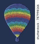 a large balloon. abstraction... | Shutterstock .eps vector #787998166