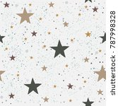 seamless pattern with stars... | Shutterstock .eps vector #787998328