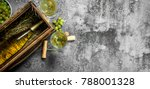 wine background. a bottle of...
