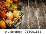 different preserved vegetables... | Shutterstock . vector #788001853