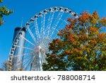 ferris wheel in atlanta sits... | Shutterstock . vector #788008714