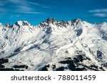 panorama view of the ski slopes ... | Shutterstock . vector #788011459