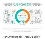 line illustration of groats.... | Shutterstock .eps vector #788011594