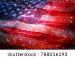 american flag and bokeh... | Shutterstock . vector #788016193