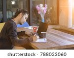 freelancer man working with... | Shutterstock . vector #788023060