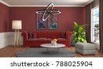 interior living room. 3d... | Shutterstock . vector #788025904
