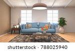 interior living room. 3d... | Shutterstock . vector #788025940