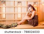 Young Woman Relaxing In A Saun...