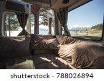 campervan with lake tekapo side ... | Shutterstock . vector #788026894
