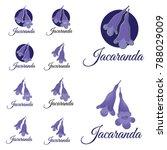 Jacaranda Flower Sign Set And...