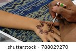 creative drawing with henna or... | Shutterstock . vector #788029270