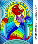 illustration in stained glass...   Shutterstock .eps vector #788029474