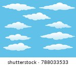 sky cloud icon  background blue ... | Shutterstock .eps vector #788033533