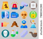 icon set about crime... | Shutterstock .eps vector #788034280