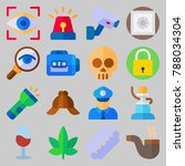icon set about crime... | Shutterstock .eps vector #788034304