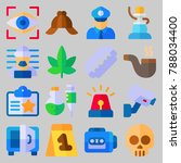 icon set about crime... | Shutterstock .eps vector #788034400