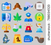 icon set about crime... | Shutterstock .eps vector #788034520