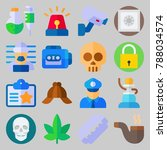 icon set about crime... | Shutterstock .eps vector #788034574