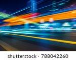 traffic with blur light through ...   Shutterstock . vector #788042260