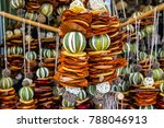 hanging decoration of dried... | Shutterstock . vector #788046913