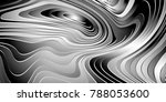 abstract black and white... | Shutterstock .eps vector #788053600