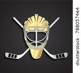 3g dolden ice hockey helmet... | Shutterstock .eps vector #788057464