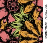 seamless floral background.... | Shutterstock .eps vector #788067256