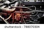 a classic fragment of diesel... | Shutterstock . vector #788070304
