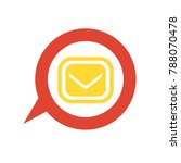 vector email button   mail sign | Shutterstock .eps vector #788070478