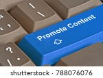keyboard with key to promote... | Shutterstock . vector #788076076