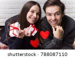 modern young couple in love... | Shutterstock . vector #788087110