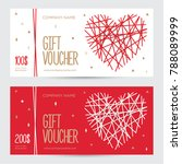 gift voucher with heart for... | Shutterstock .eps vector #788089999