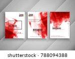 abstract business brochure set | Shutterstock .eps vector #788094388