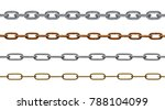 collection of various chain on... | Shutterstock . vector #788104099