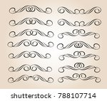 set of decorative elements.... | Shutterstock .eps vector #788107714