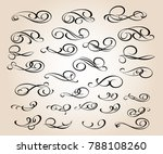 set of decorative elements.... | Shutterstock .eps vector #788108260