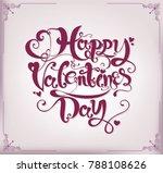 happy valentines day typography ... | Shutterstock .eps vector #788108626