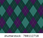 purple and aqua argyle... | Shutterstock .eps vector #788112718