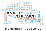 anxiety  depression  stress ...   Shutterstock . vector #788118430