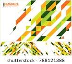 modern diagonal abstract... | Shutterstock .eps vector #788121388