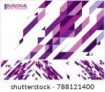modern diagonal abstract... | Shutterstock .eps vector #788121400