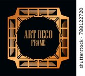 vintage retro golden border and ... | Shutterstock .eps vector #788122720