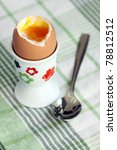 close up of soft boiled egg ... | Shutterstock . vector #78812512