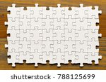 Puzzle Background. White Pieces ...