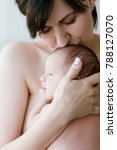 mother's love tenderness kiss... | Shutterstock . vector #788127070