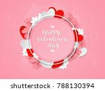 happy valentine's day card on a ... | Shutterstock .eps vector #788130394