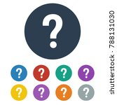 question icon on white...   Shutterstock .eps vector #788131030